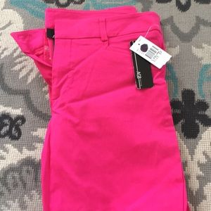 Denim - Hot Pink Crop Dress Pants